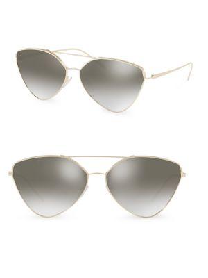 65MM Cat Eye Aviator Sunglasses