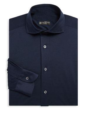 Solid Jersey Dress Shirt