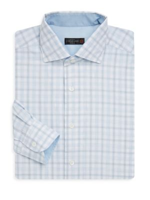 Regular-Fit Gingham Cotton Dress Shirt