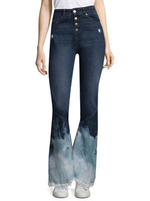 button bleached jeans - Blue Each Other h4Z5NarG