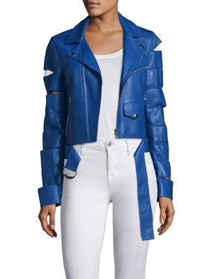 EACH X OTHER | Cut-Out Leather Jacket | Goxip