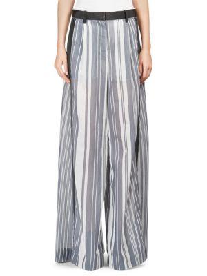 Striped Organza Pants