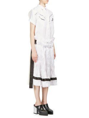 Short-Sleeve Twill Dress