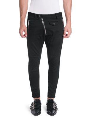 Asymetrical Zip Wool Pants