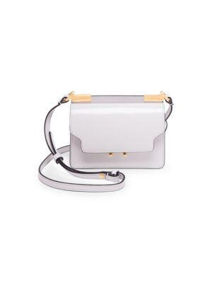 TRUNK MICRO LEATHER SHOULDER BAG