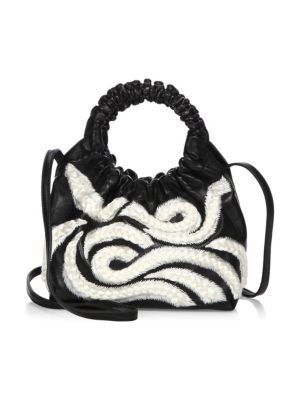 The Row Double Circle Small Embroidered Top-Handle Bag cKeeNZmb