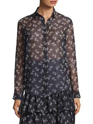 Floral Chiffon Shirt