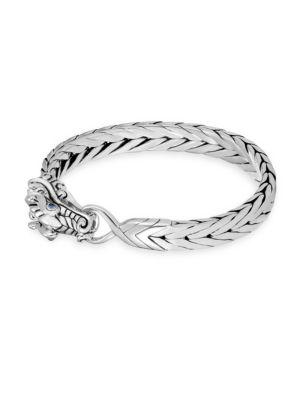 Naga Woven Silver Dragon Bracelet