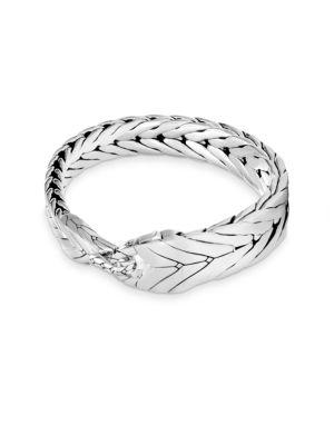 Modern Silver Chain Bracelet