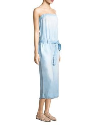 Strapless Frayed Jumpsuit