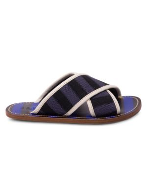 Colorblock Crisscross Sandals