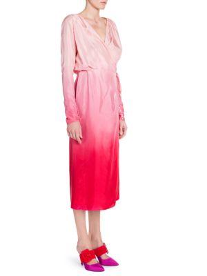 SILK ORGANZA WRAP DRESS