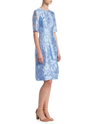 Holly Elbow Sleeve Fit-&-Flare Dress