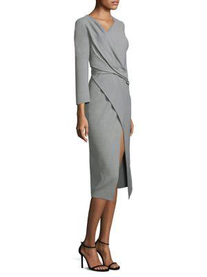 Wool Canvas Wrap Dress