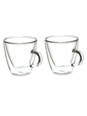 Turin Double Shot Double Walled Espresso Mug Two-Piece Set