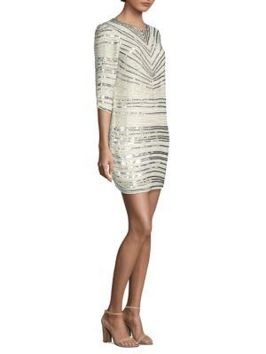Petra Sequin Stripe Dress