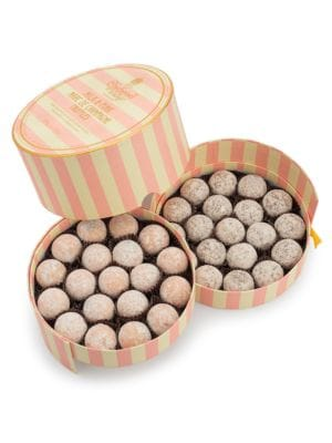 Set of 19 Milk Marc de Champagne Truffles and 19 Pink Marc de Champagne Truffles