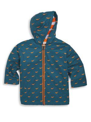 Toddler's, Little Boy's & Boy's Tiny Whales Splash Jacket