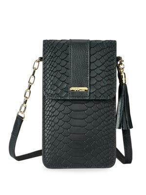 Penny Embossed Leather Crossbody