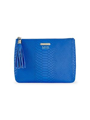 All-in-One Python-Embossed Leather Clutch