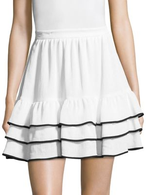 Carice Flare Ruffle Skirt