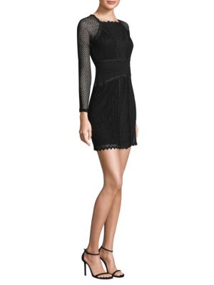 Mixed Mesh Bodycon Dress
