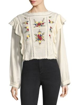 The Amy Embroidered Top
