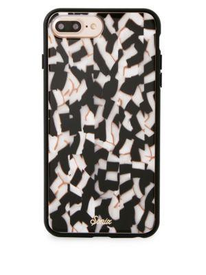 Black Pearl Geometric-Print Rubber iPhone 8 Plus Case