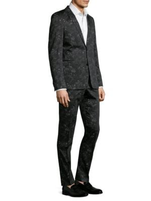 STRELLSON Cale Madden Slim-Fit Floral Suit