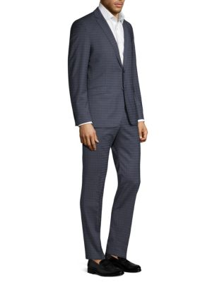 STRELLSON Allen Mercer Checkered Slim-Fit Suit