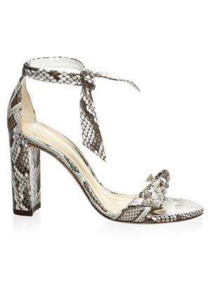 ALEXANDRE BIRMAN Clarita Python Ankle-Strap Sandals