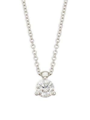 HEARTS ON FIRE Diamond & 18K White Gold Pendant Necklace