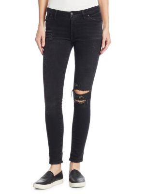 THE ALCHEMIST Gina Less Loaded Rings Skinny Jeans