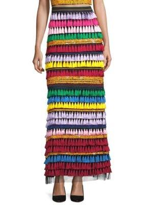 Merrill Embellished Maxi Skirt