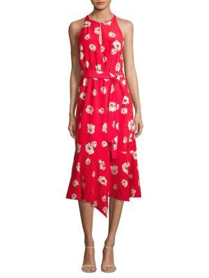 Belted Asymmetric Dress