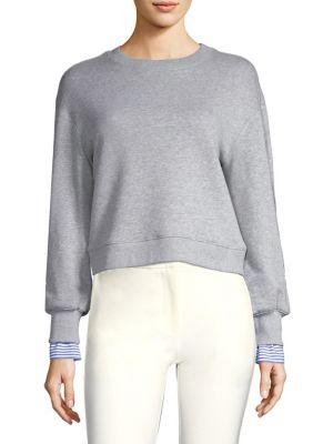 Sweatshirt With Peekaboo Shirting