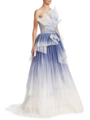 Handpainted Tulle Ball Gown