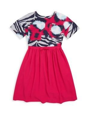 Toddler's, Little Girl's & Girl's Jungle Splash-Print Long Dress