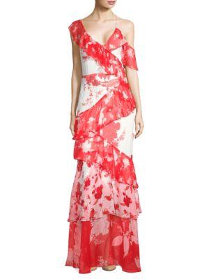 Olympia Silk Asymmetric Dress