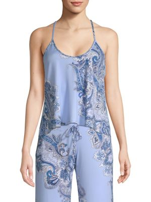 IN BLOOM Thyme Paisley-Print Camisole