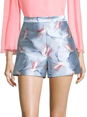 Alice + Olivia Denim Printed Shorts