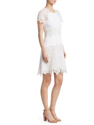 Eyelet Appliqué Dress