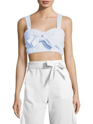 Stripe Cotton Coverup Bra