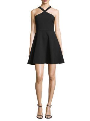 Ashland Fit-&-Flare Halter Dress