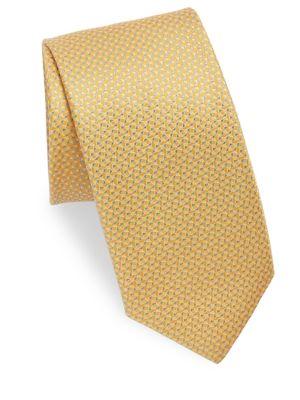 Mini Geometric Pattern Silk Tie