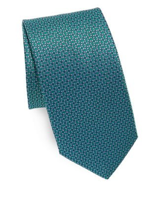 Mini Geometric Pattern Silk Tie