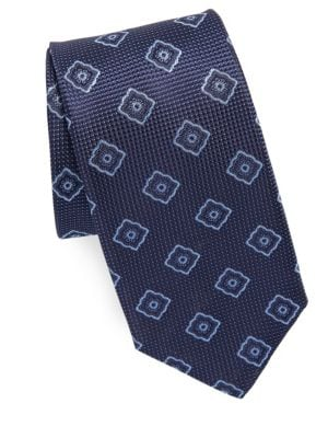 Pattern Square Silk Tie