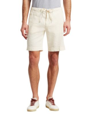 Slim-fit Pleated Cotton And Linen-blend Bermuda Shorts - Royal blueLoro Piana Vente 2018 Unisexe C6NoMN