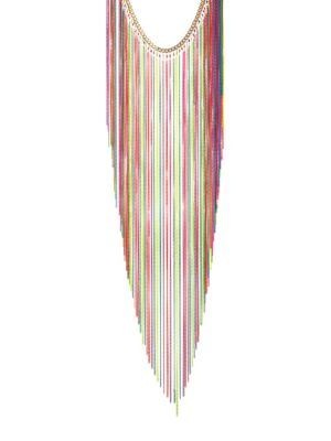 Medusa Multicolor Fringe Necklace