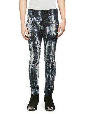 Tie-Dye Ribbed Skinny Jeans
